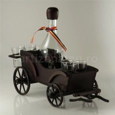 Carriage with bottles and glasses